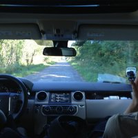 Two Small HD Cameras Were Recording Us Inside The Car, Too!