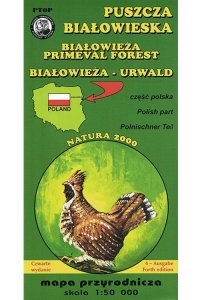 Białowieża Forest Paper Map