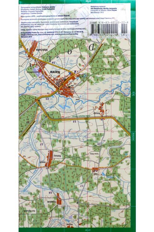 Bialowieza Laminated Map Back