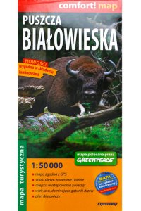 Białowieża Forest Laminated Map