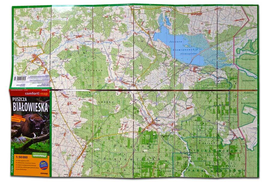 Bialowieza Laminated Map Spread 01