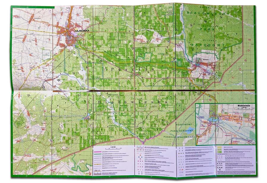 Bialowieza Laminated Map Spread 02