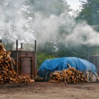 Charcoal Burners In The Bieszczady Mountains