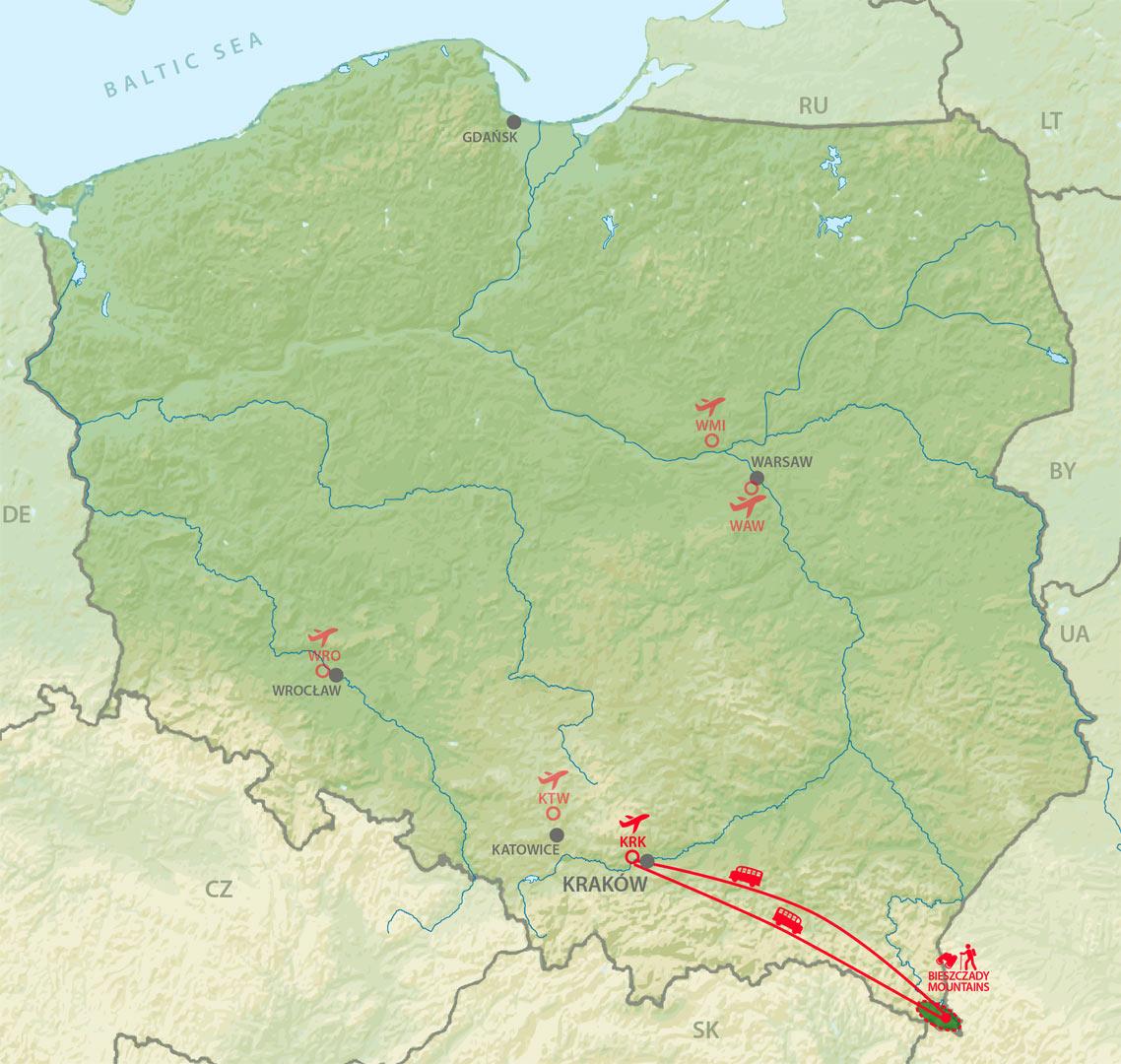 mapa-bieszczady