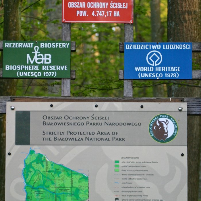 At The Entry To The UNESCO Site Of The Białowieża National Park