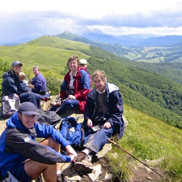 Wild Poland Group Atop Bieszczady Mts