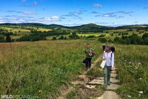 Hiking along the Ukrainian border in the Bieszczady Mountains