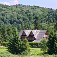 Our lodge in the Bieszczady Mts