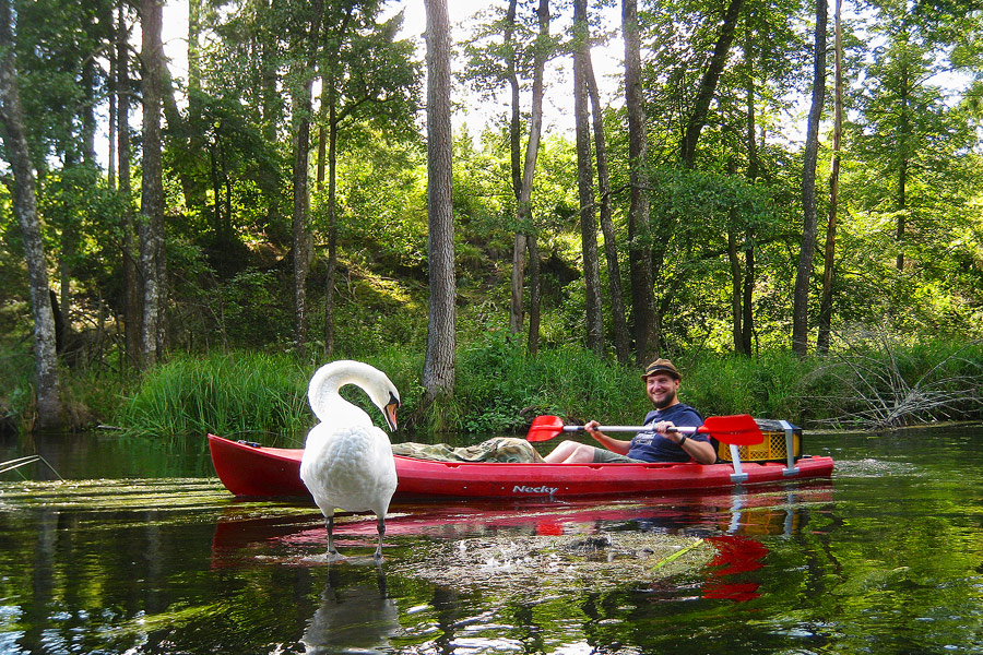 Kayaking along the border of Poland and Lithuania