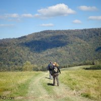 Walking in the Bieszczady Mountains, our guided Eastern Carpathians tour in September, photo by Piotr Dębowski