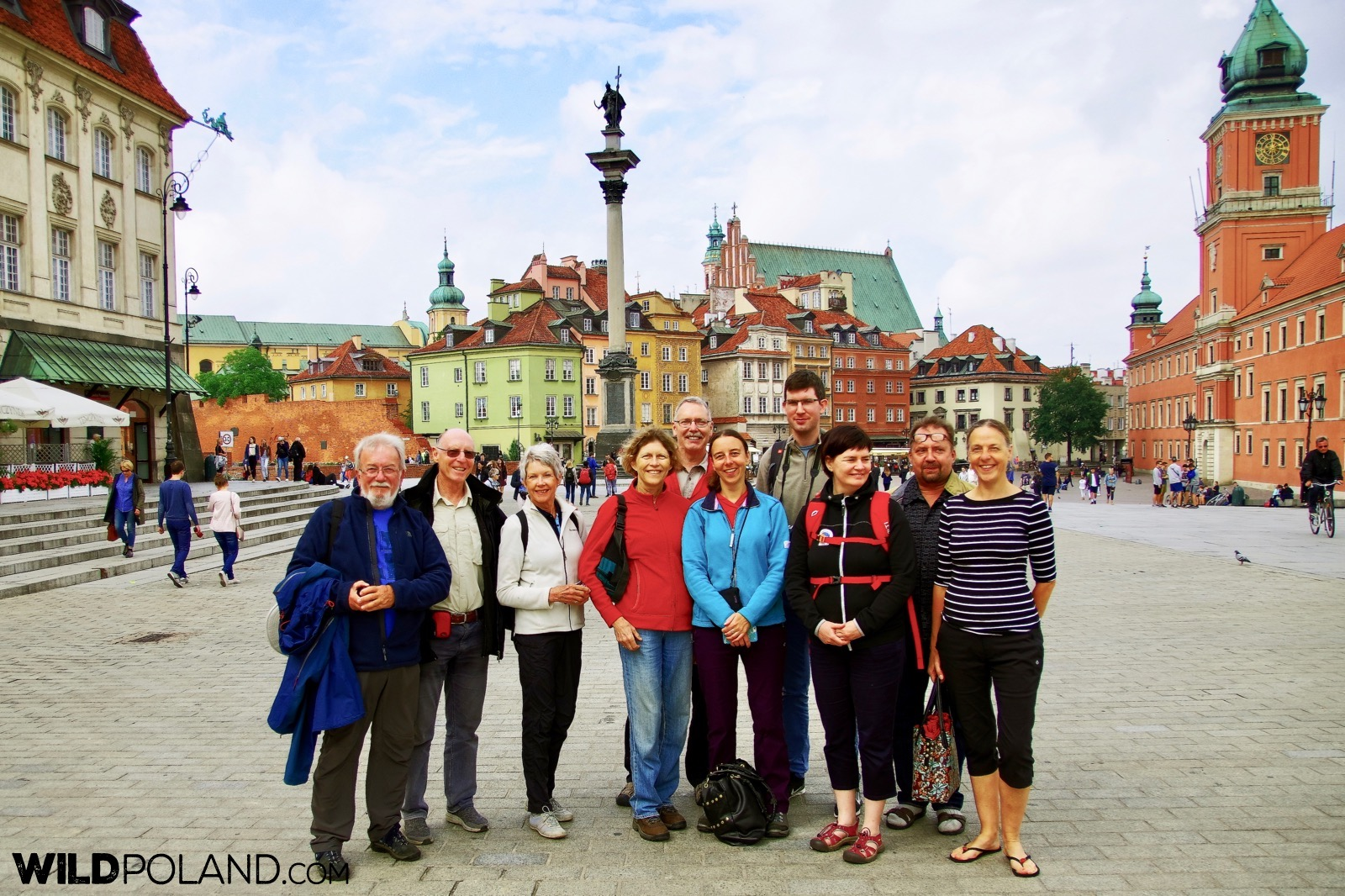 Our happy group at the Old Town in Warsaw