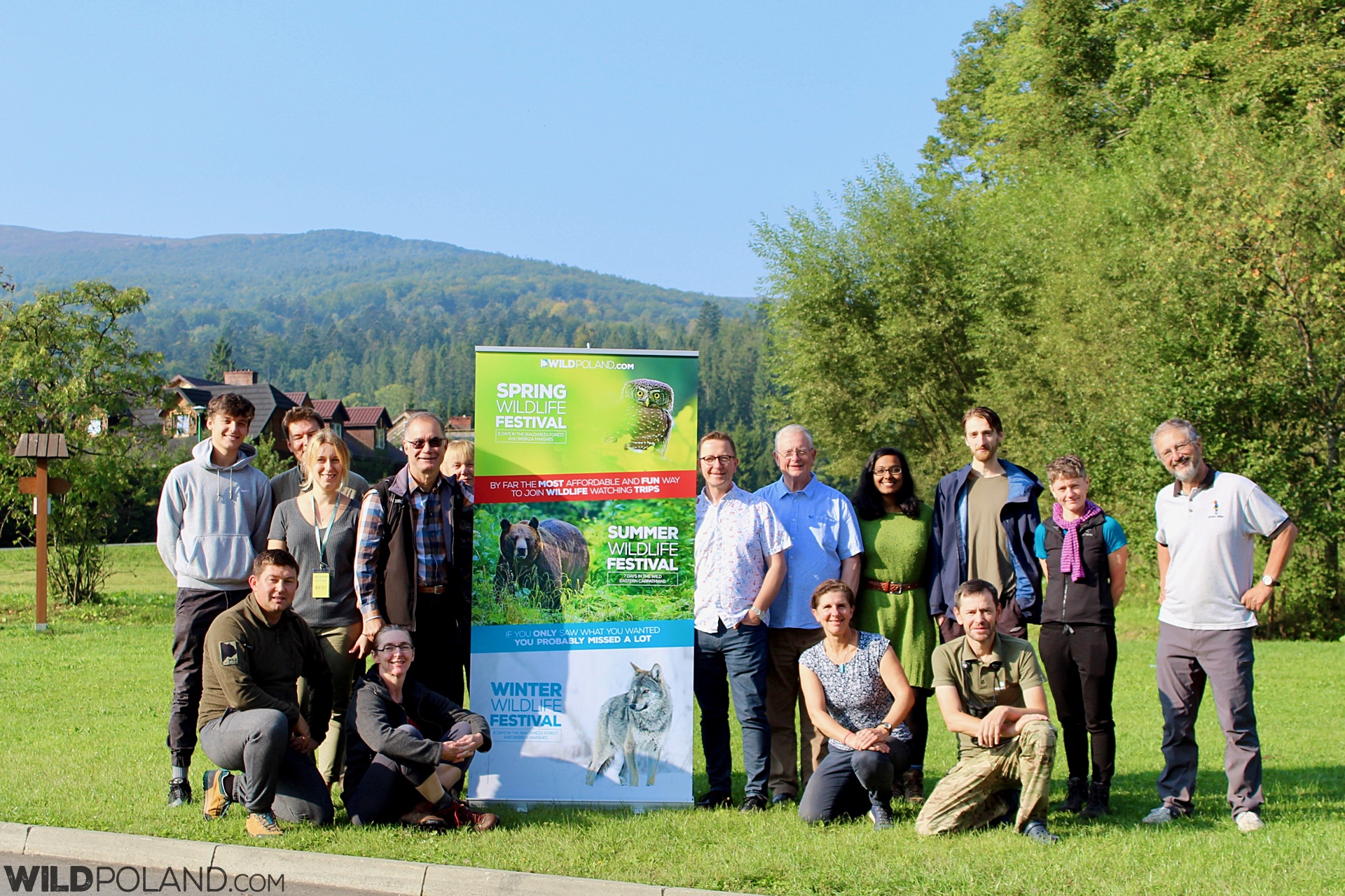 Summer Wildlife Festival Group in the Bieszczady Mts, Eastern Carpathians