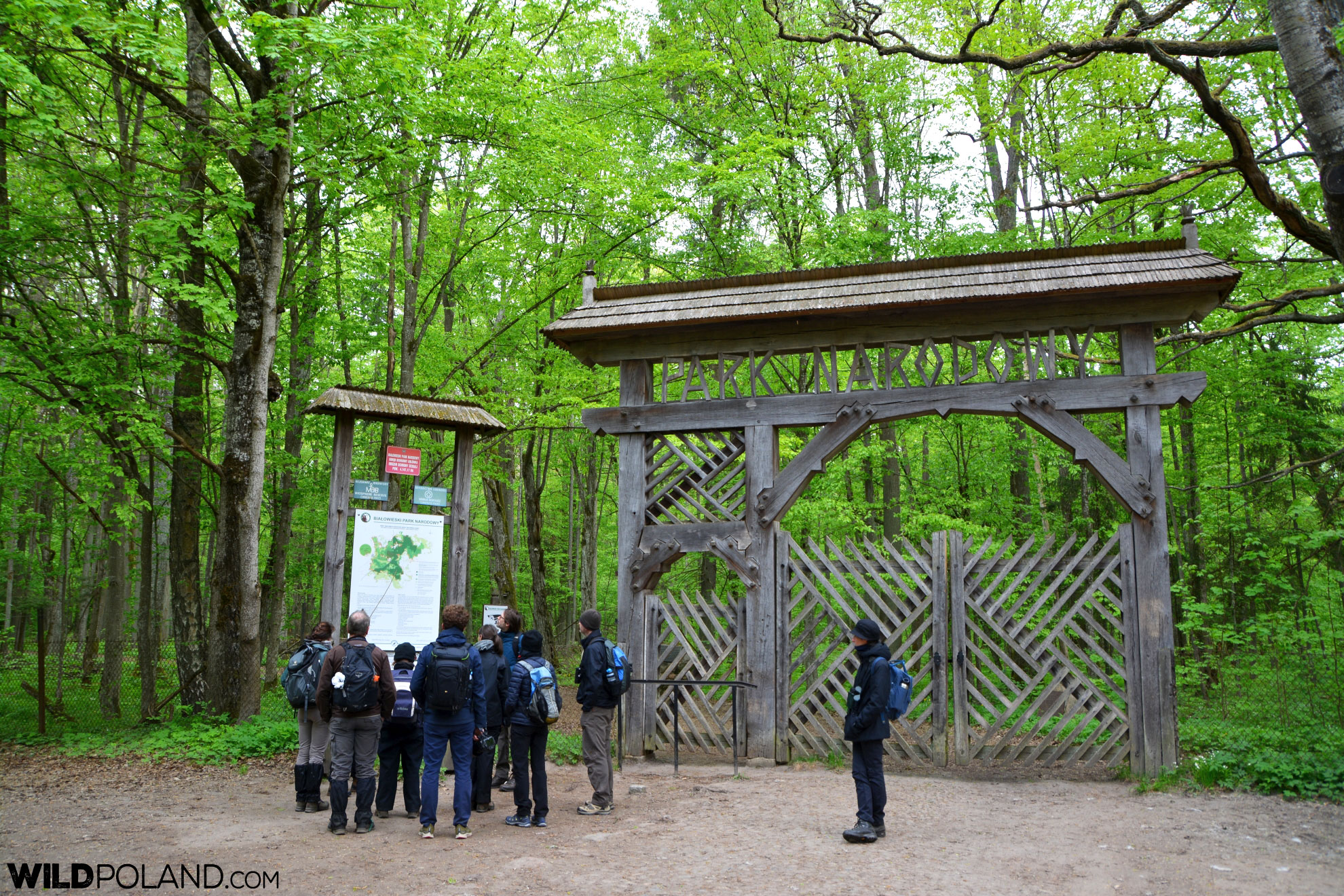 At the entrance to the Białowieża National Park Strict Protection Area, Unesco World Heritage site