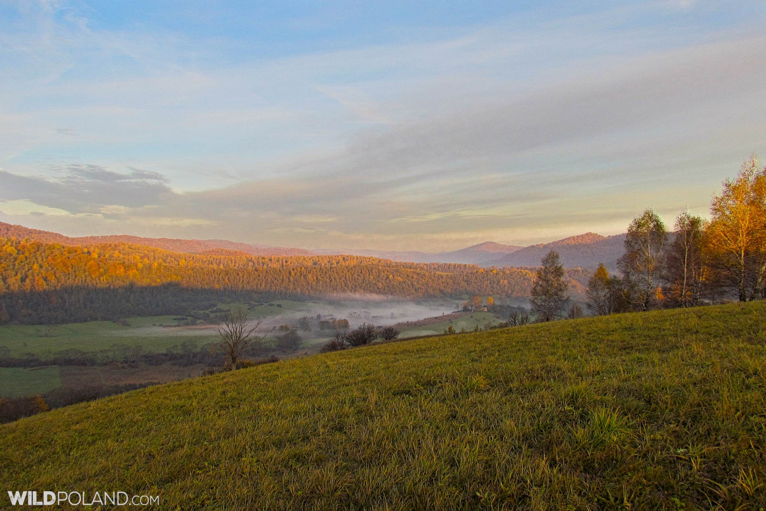 Sunrise in the Bieszczady Mts