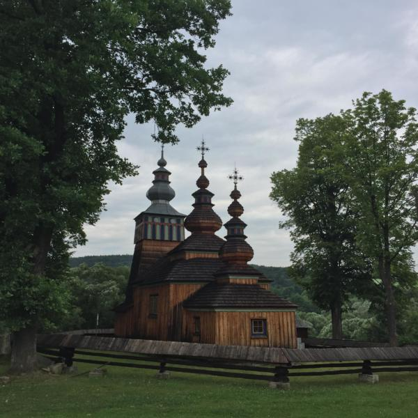 Wooden Orthodox Church In The Carpathians