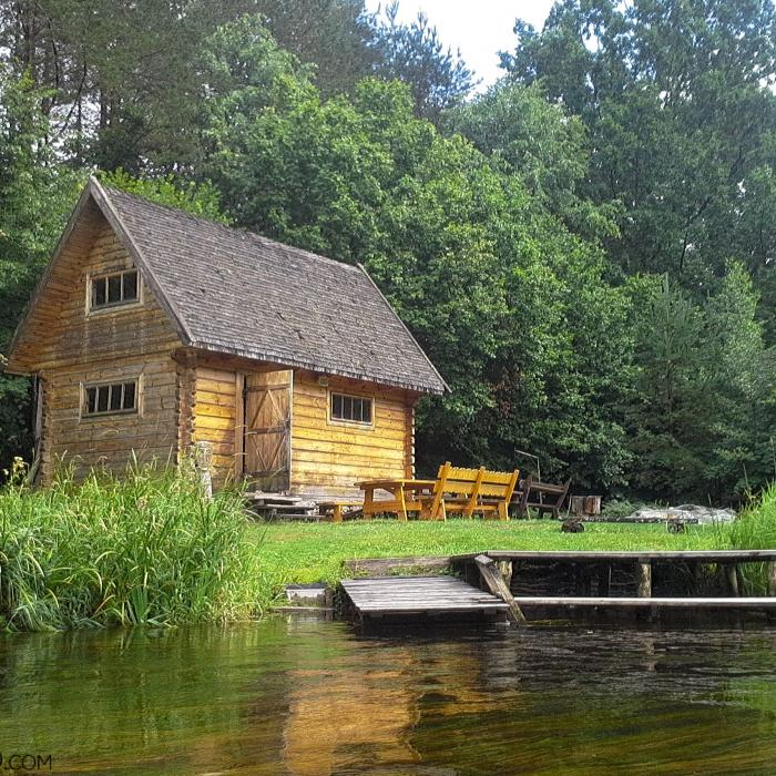 Sauna (russian Banya) At A Riverside