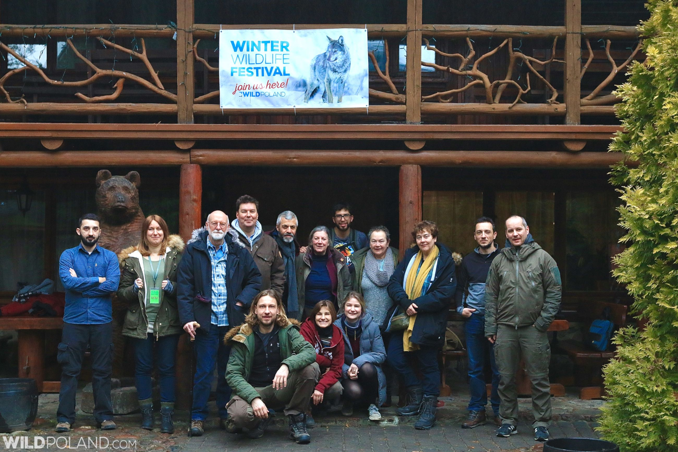 Wild Poland Winter Wildlife Festival 2020 group.
